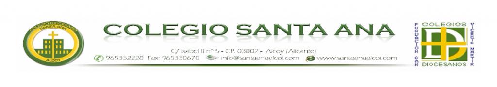 Membrete Col·legi Santa Ana Alcoi